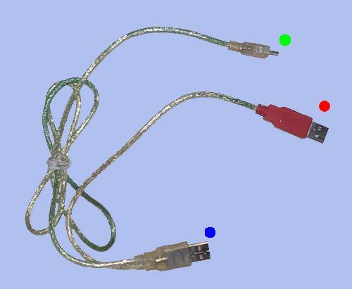 Y USB кабель